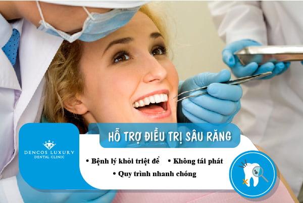 Hỗ trợ điều trị sâu răng